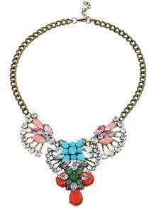 Blue Drop Gemstone Fan-shaped Necklace