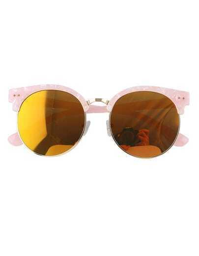 Pink Oversized Rounded Sunglasses