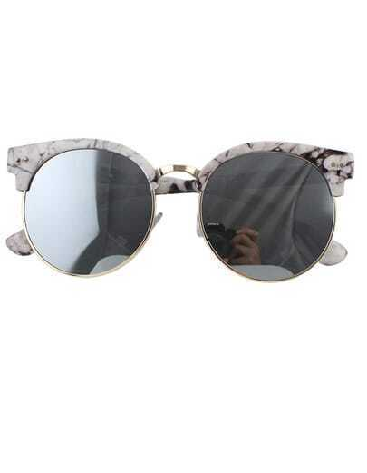 Gray Oversized Rounded Sunglasses