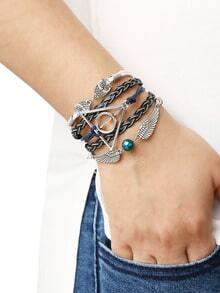 Black Braid Wing Bracelet