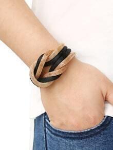 Золотисто-чёрный стильный браслет