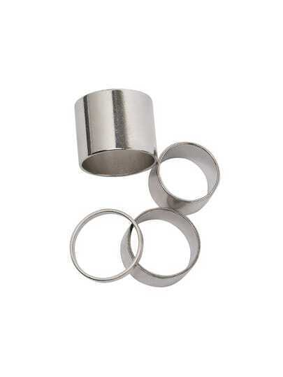 Silver Polished Stack Rings