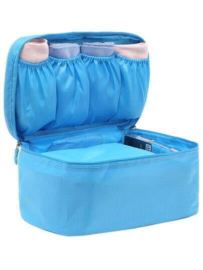 Sky Blue Zipper Multifunctional Wash Bag