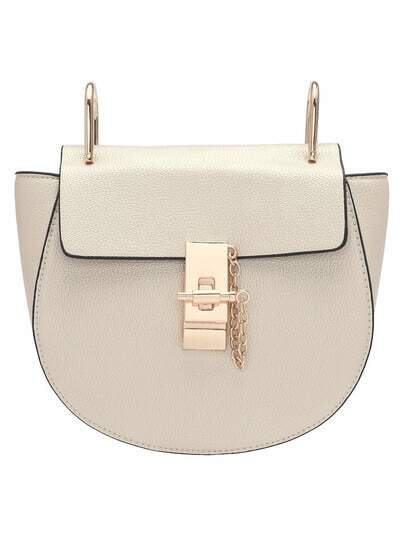 Apricot Twist Lock Shoulder Bag