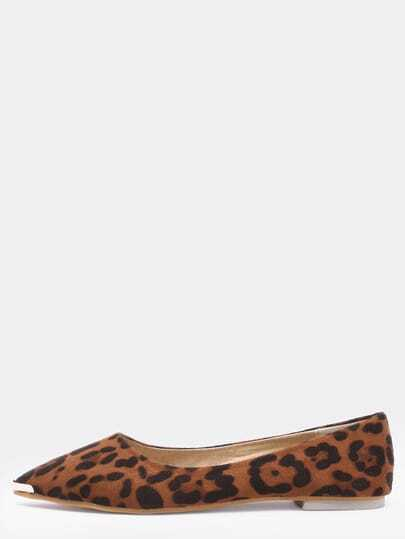 Leopard Casual Point Toe Flats