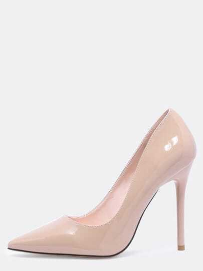 Apricot Pointed Toe High Stiletto Heel Pumps