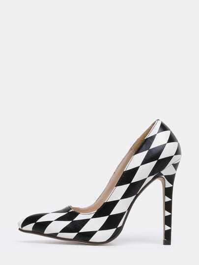 Black Diamondback Pointy Stiletto Heels