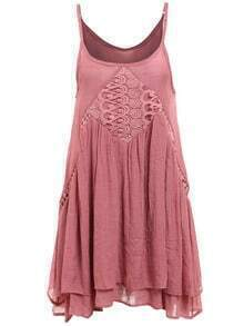 Spaghetti Strap Crochet Cami Dress