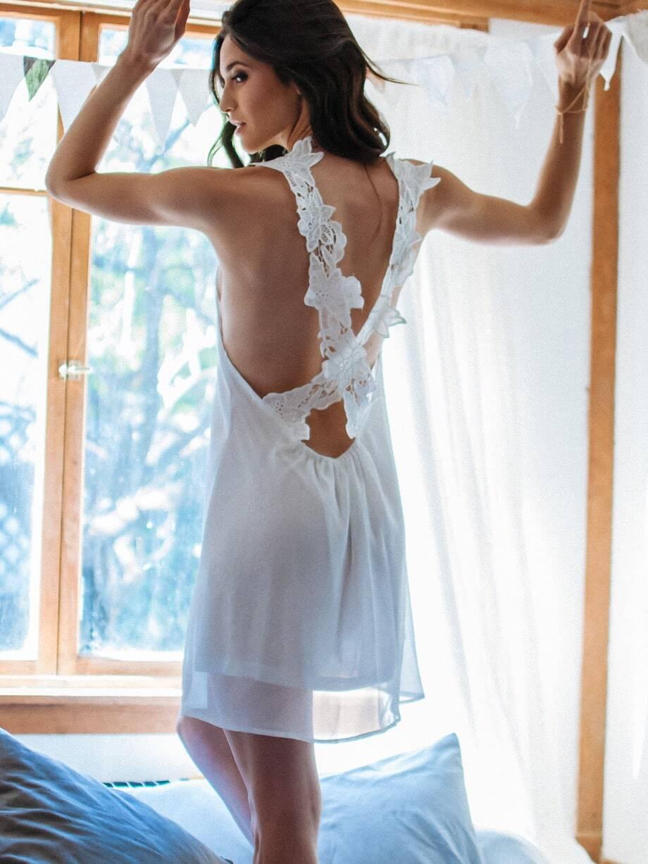 Lace Criss Cross Back Mini Dress pink suede criss cross back mini slip dress