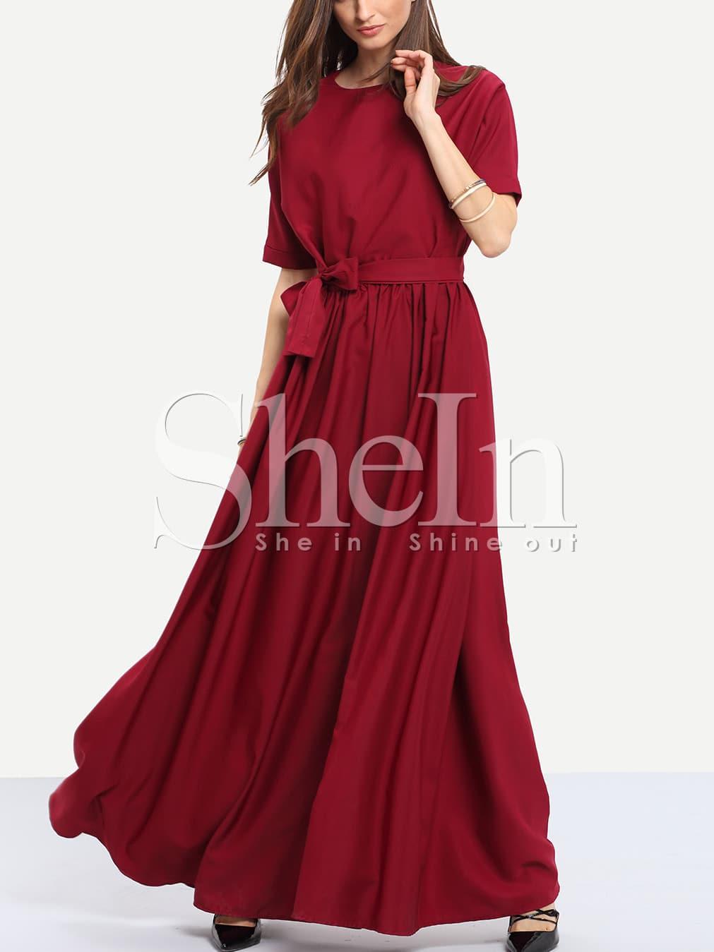 Фото Tie Waist Maxi Dress. Купить с доставкой