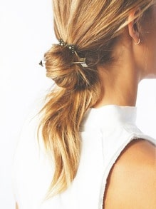 Bronze Vintage Arrow Shape Hair Jewelry