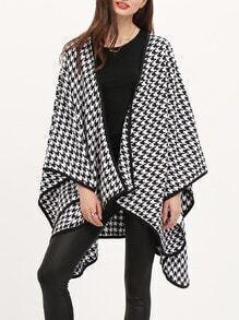 Black White Asymmetric Coat