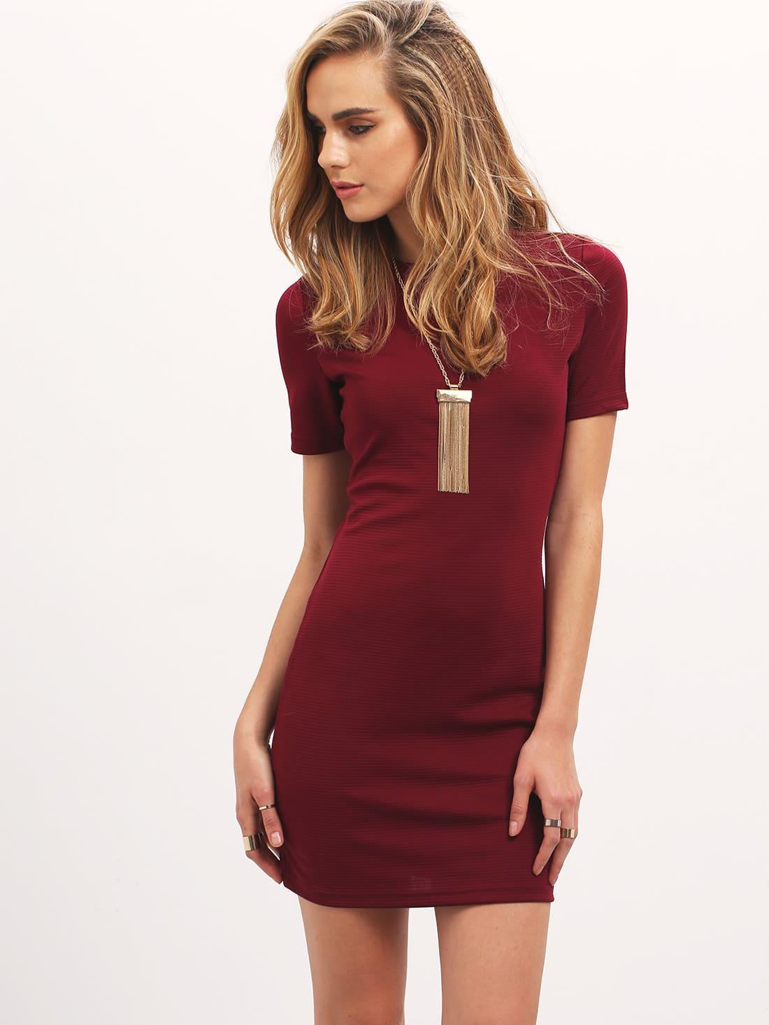 Фото Crew Neck Bodycon Dress. Купить с доставкой