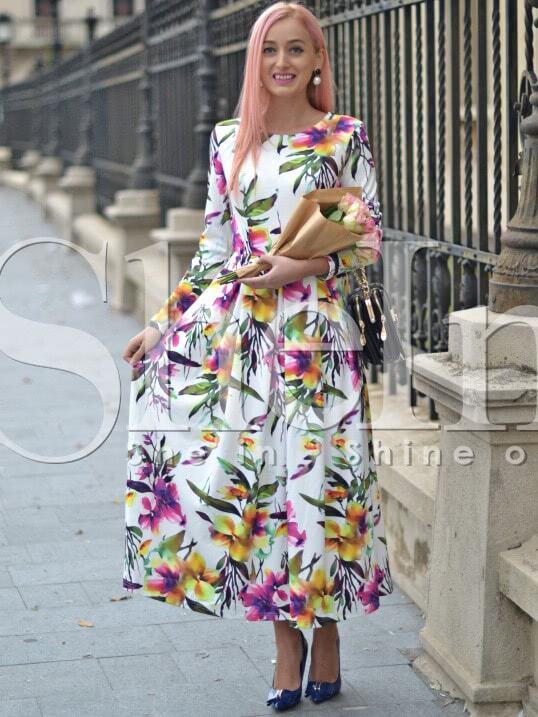 Фото Long Sleeve Flowery Floral Pastel Dress. Купить с доставкой
