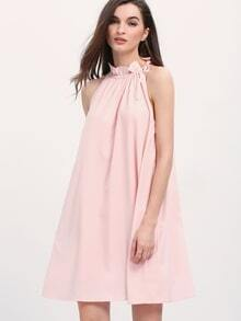 Pink Sleeveless Tent Dress