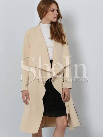Khaki Long Sleeve Trench Coat