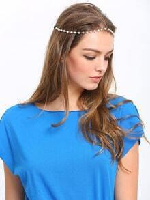 Bohemian Imitation Pearl Elasticity Chain Forehead Hair Accessories