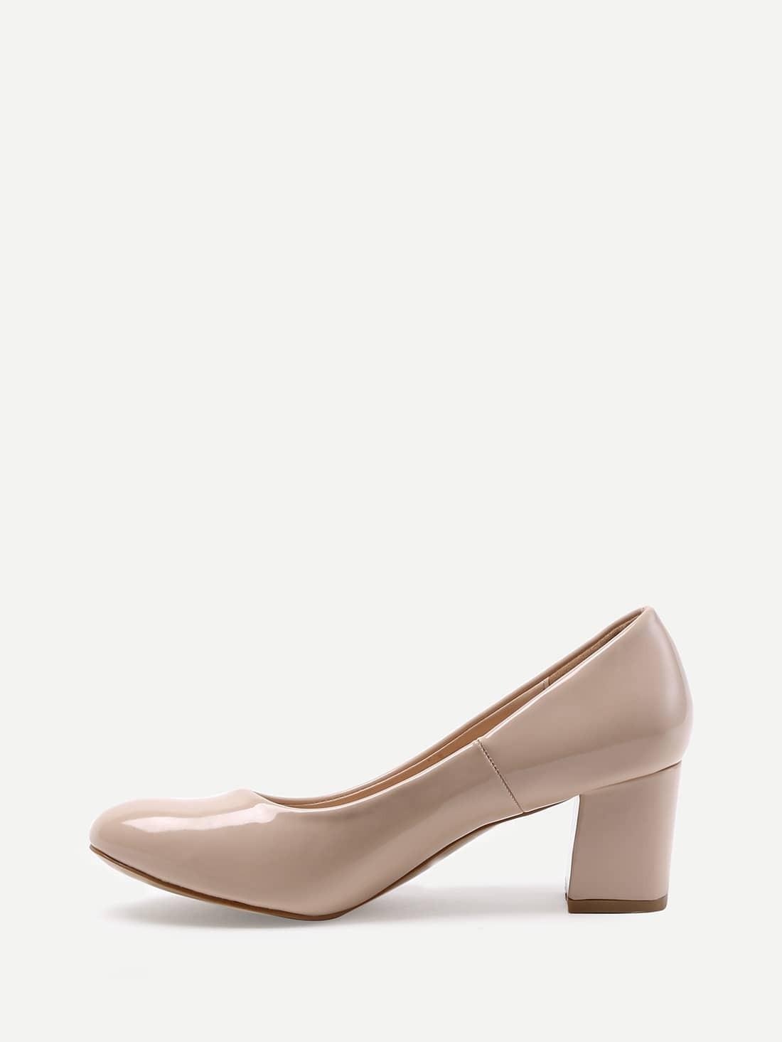 Nude Patent Leather Heels shoes16033009