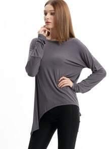 T-Shirt Langarm mit Rundhals-grau