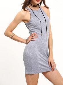 Grey Sleeveless Slim Bodycon Cami Dress