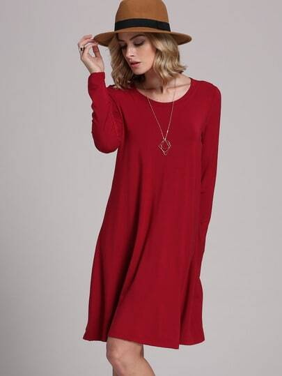 Long Sleeve Casual Babydoll Dress