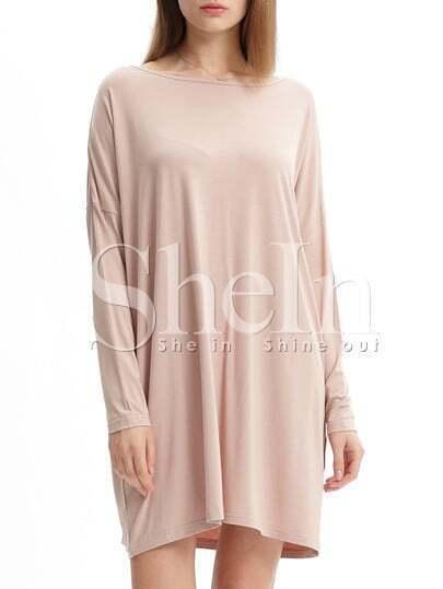 Bat Sleeve T-shirt Dress