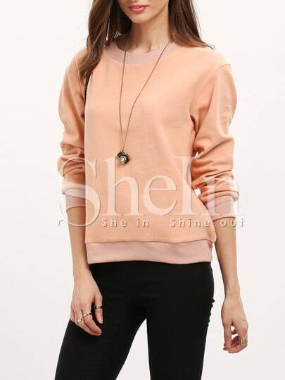 Apricot Crew Neck Loose T-Shirt