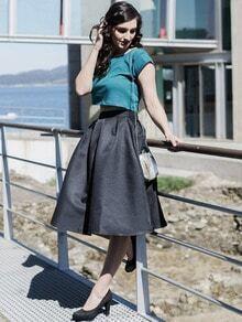 Falda plisada-negro