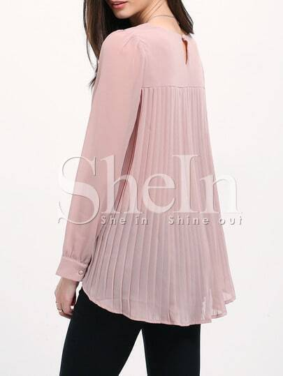 Pleated Back Swing Blouse