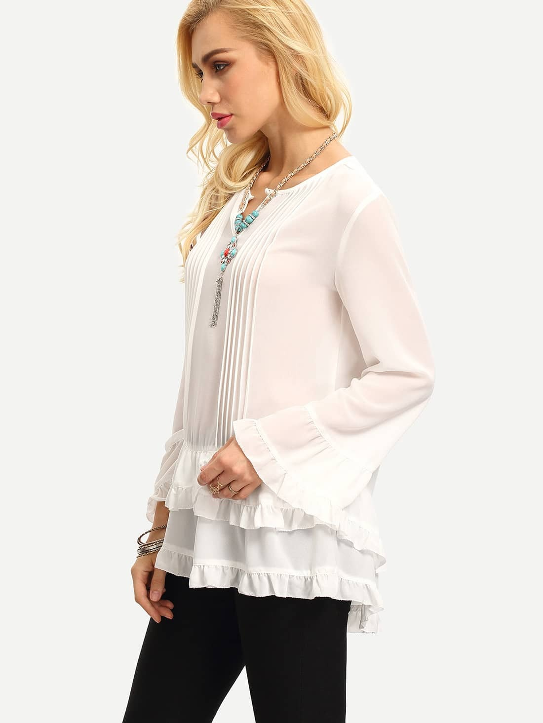 Find great deals on eBay for white long sleeve ruffle blouse. Shop with confidence.