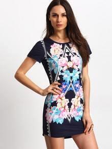 Multicolour Floral Shift Dress