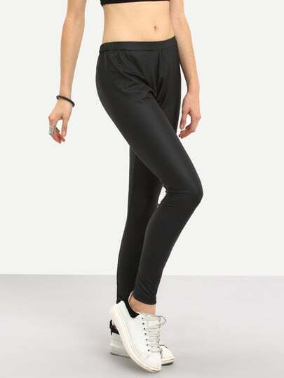 Black Low Waist Slim Pant