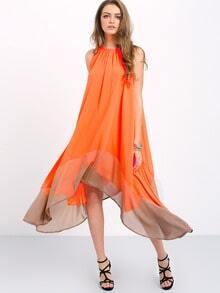 Colour-block Loose Tent Dress