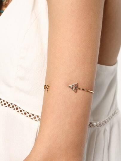 Gold Deathly Hallows Glasses Bracelet