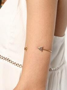 Gold Deathly Hallows Glasses Bracelet