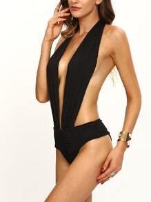 Halter Deep V Backless One Piece Swimwear