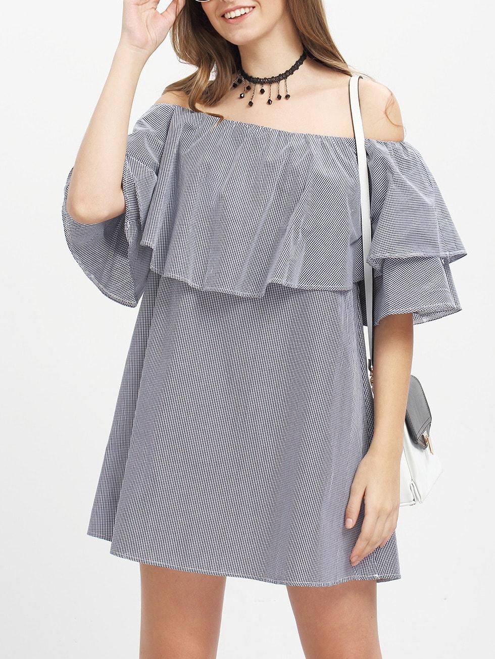 Off The Shoulder Ruffle Dress dress160324105