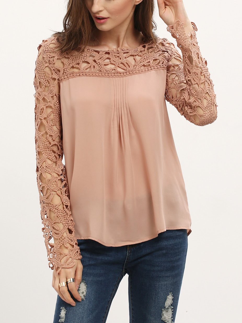 Find lovely sleeveless blouses with classic details like lace, button fronts, ruffles or neckties. And when it's time to hit the dance floor, sparkle while you sashay in metallic prints and sequins. Or make a statement with a one-shoulder design. Love long sleeves? Stock up on thermal tops and Henley shirts to stay warm during the winter.
