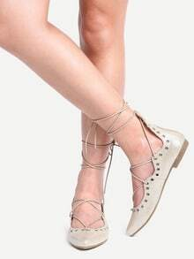 Chaussure plate bout pointu - doré clair