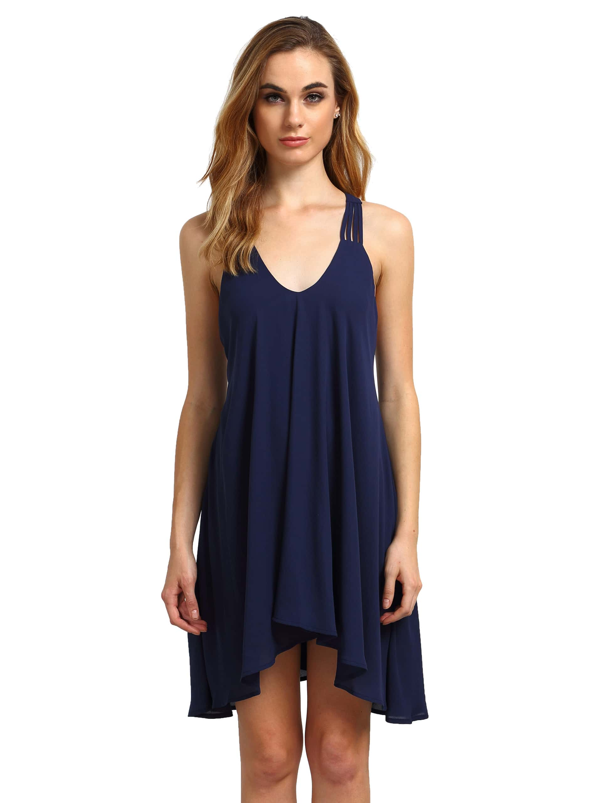 Фото Royal Blue Sleeveless Backless Romantic Loved Lolita Pleated Dress. Купить с доставкой