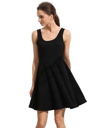 Scoop Back Circle Dress