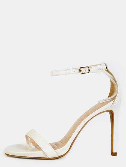 Classic Single Sole Heels WHITE
