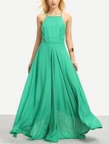 Square Neck Crisscross Maxi Dress