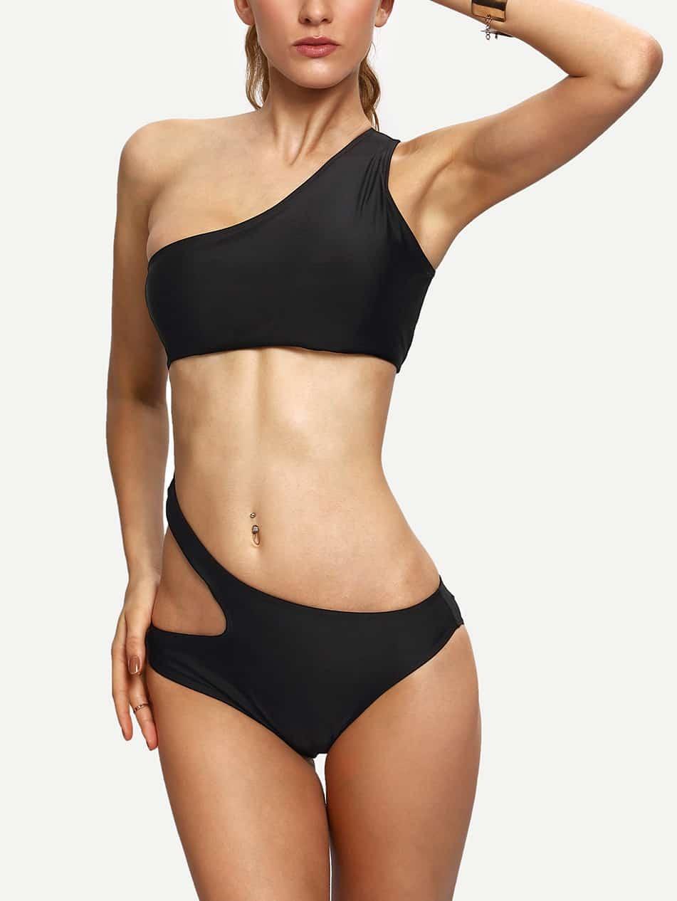 Купить One Shoulder Cutout Monokini