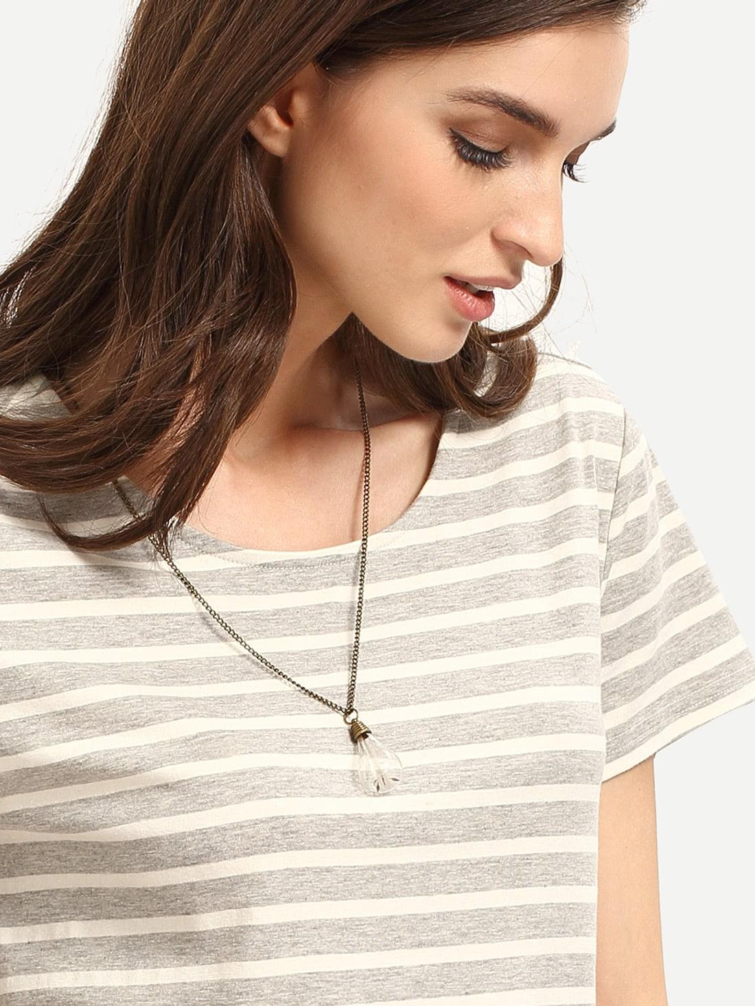 Фото Dandelion Glass Bulb Pendant Necklace. Купить с доставкой
