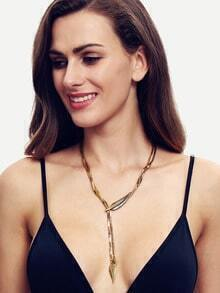 Bronze Arrow Pendant Link Necklace