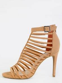 Cut Out Strappy Stiletto Heels BLUSH