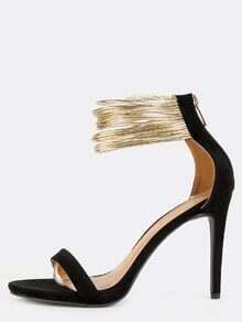 Duo Toned Metallic Stiletto Heels BLACK MULTI