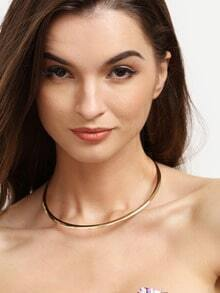 Golden Fashionable Metal Ring Necklace