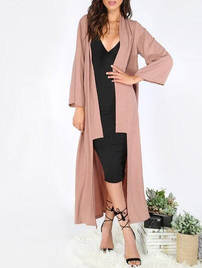 Long Sleeve Lapel Cardigan Long Outerwear